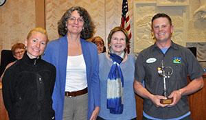 Peter Grant, Mayor Marjorie Sloan, SCAB members Karen Smith and Whitney Painter