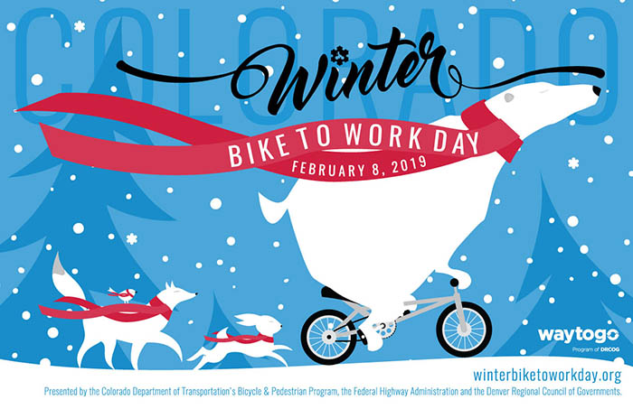 2019 Winter Bike to Work Day Poster