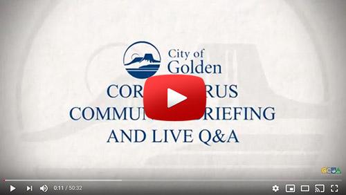 Video link to 2nd Coronavirus community briefing