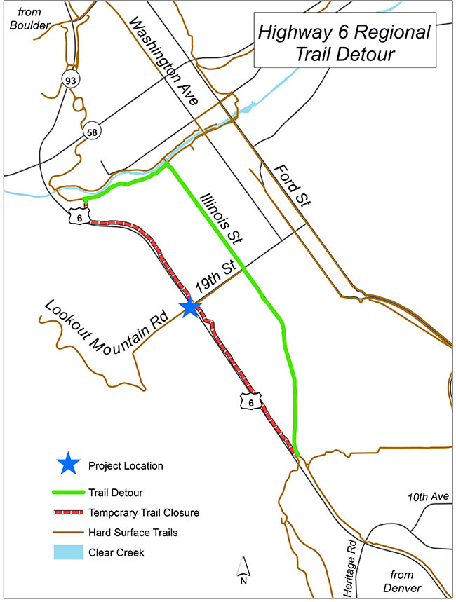 6th Ave Regional Trail Detour