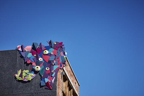 ARTSweek yarn bombing