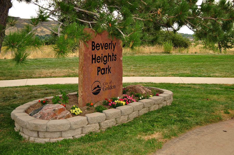 Beverly Heights Park Sign