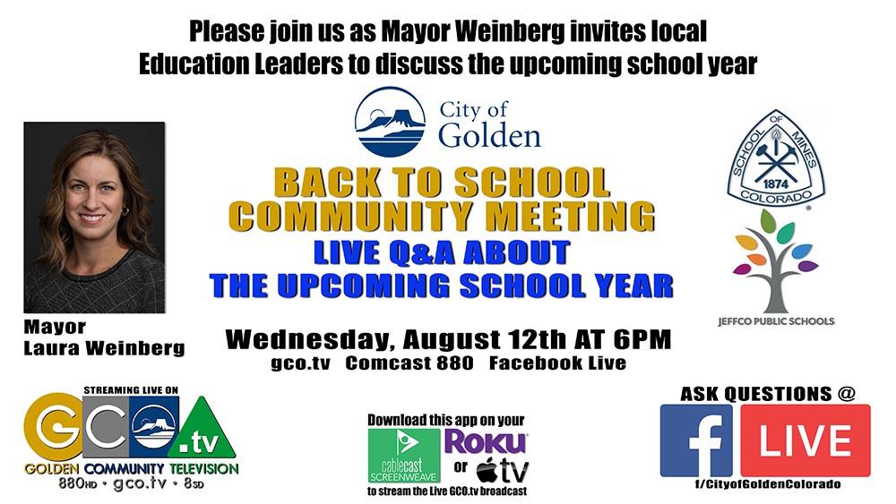 Back to School Community Briefing
