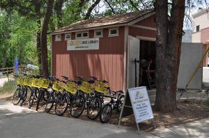 Golden Bike Library Shed