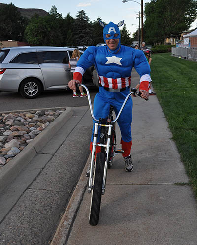Bicycle Cruise Captain America