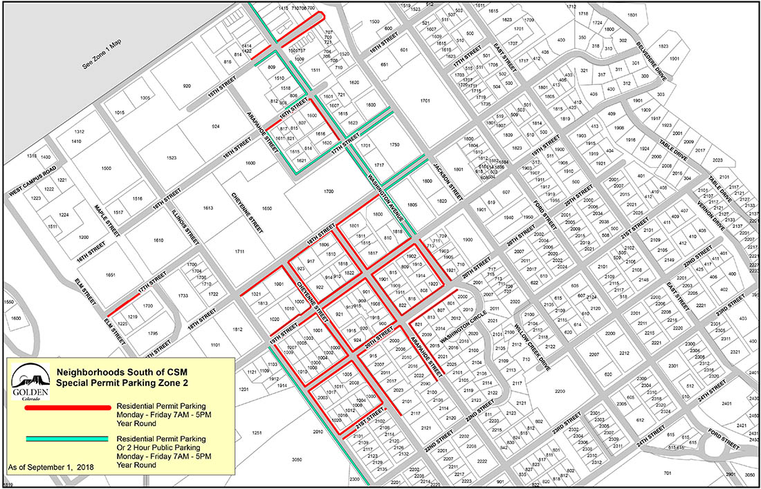CSM South Residential Parking Map