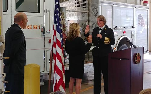 Chief Welch sworn in as Fire Chief