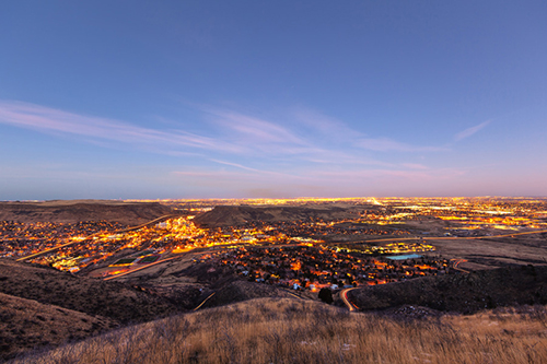 The City of Golden at Dusk