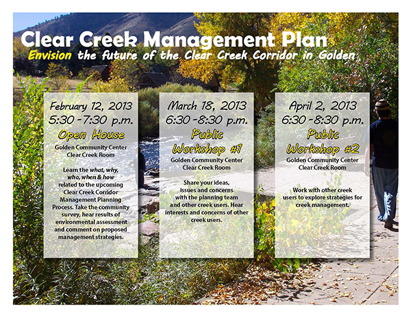 Clear Creek Management Plan Meeting Calendar