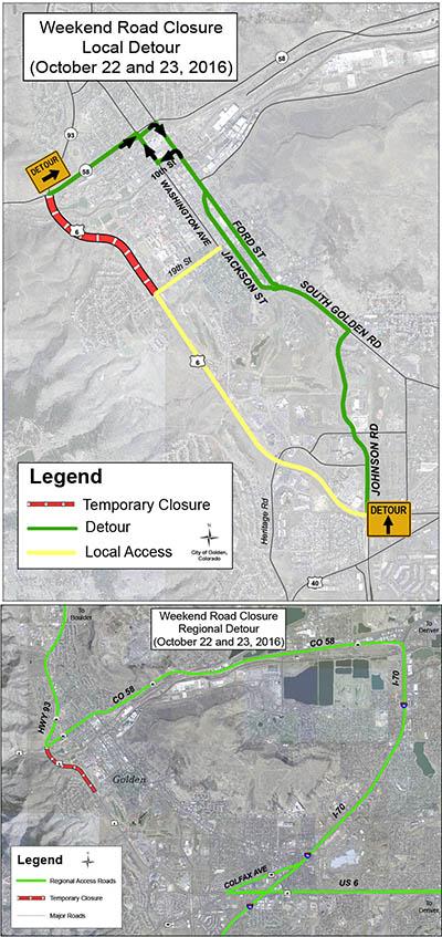 Road closure maps