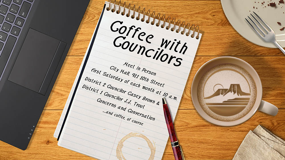 Come have coffee with your councilors the first Saturday of the month at 10 a.m.