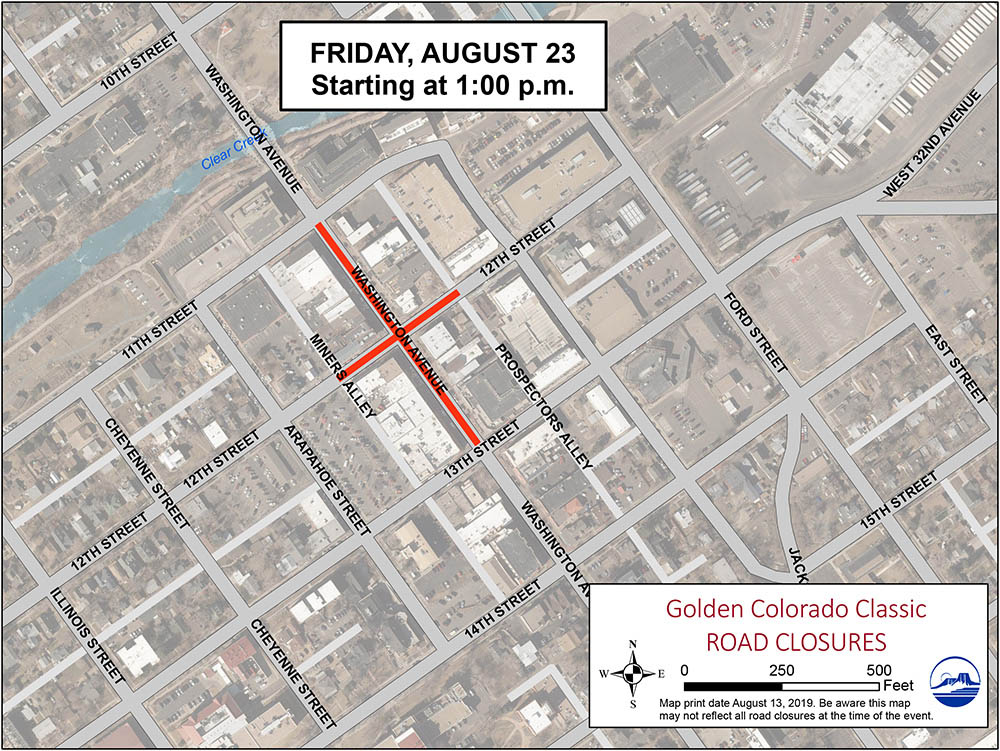 Colorado Classic Friday Closures Map
