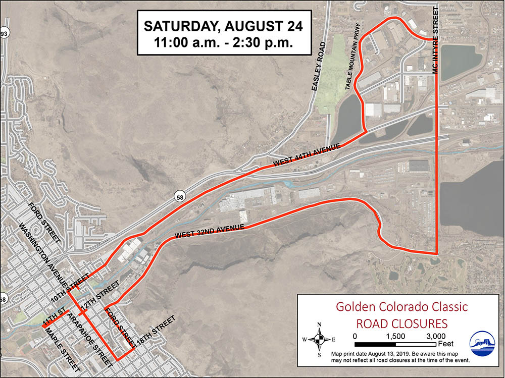 Colorado Classic Saturday Route Map