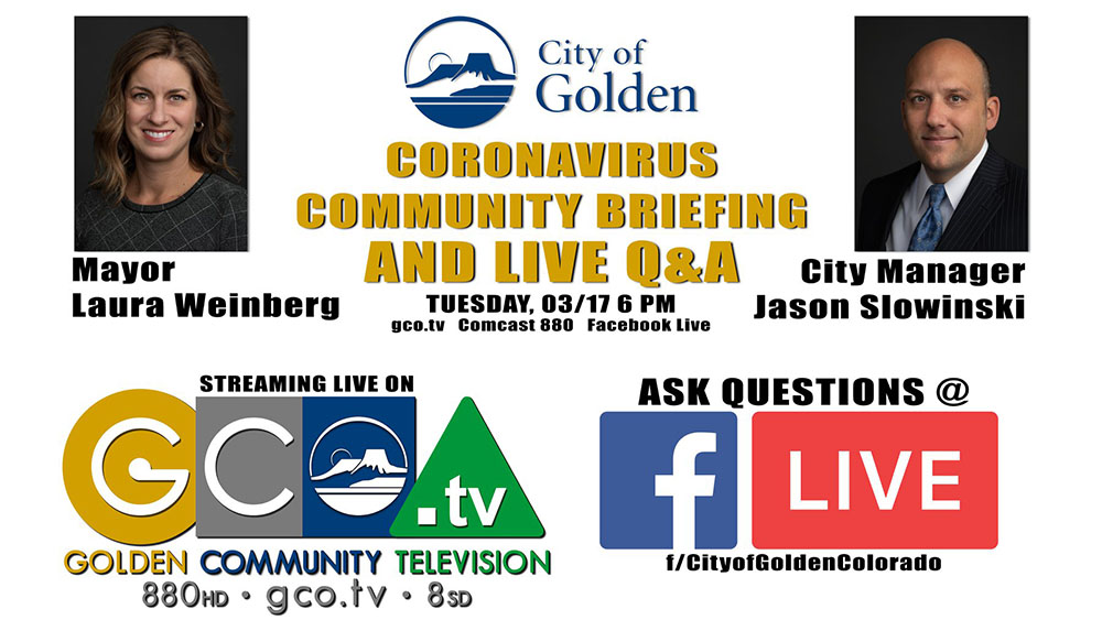 Community Briefing and Live Q&A on March 17 6 p.m.