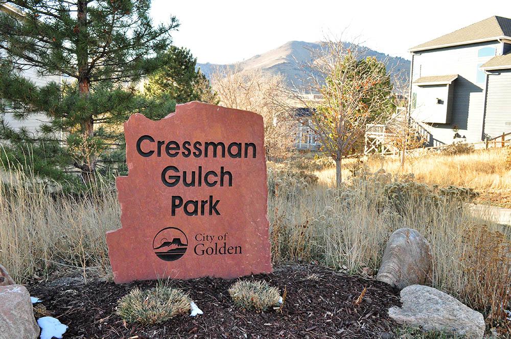 Cressman Gulch Park Sign