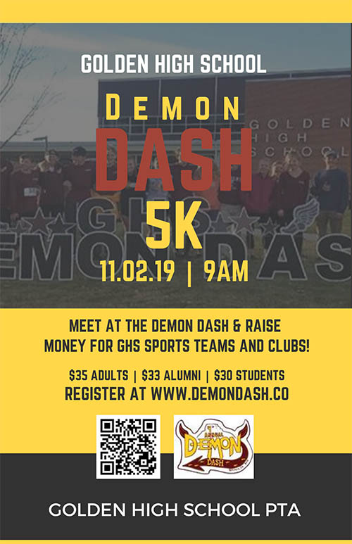 Demon Dash 5K on 11-2-19 at 9am