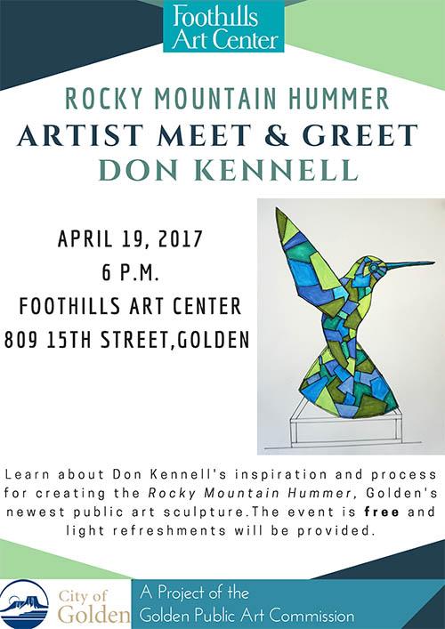 Artist Meet & Greet with Rocky Mountain Hummer artist Don Kimmell @ Foothills Art Center