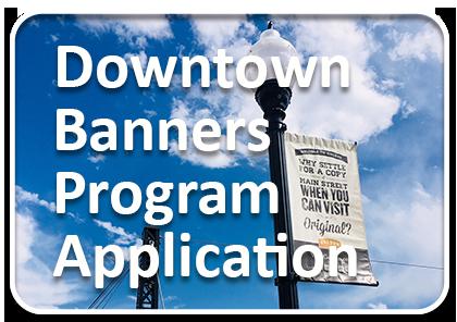 Downtown Banner Program Application Button