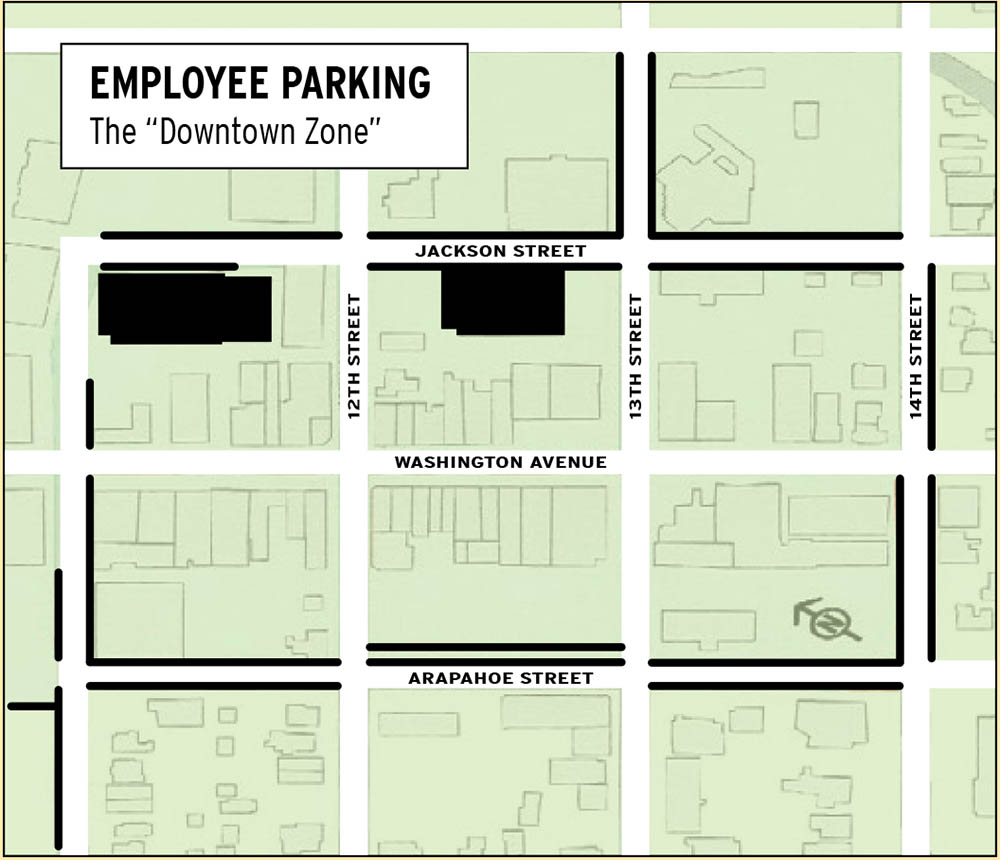 Employee Downtown Permit Parking