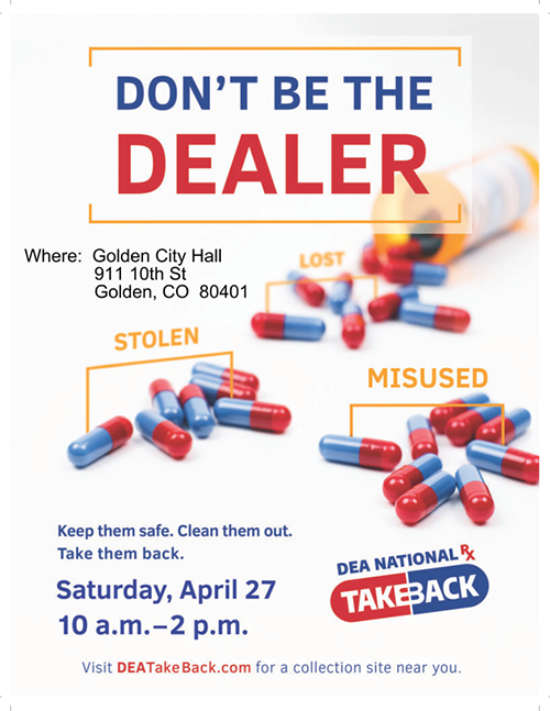 National Prescription Drug Take Back Day 2019 @ Golden City Hall