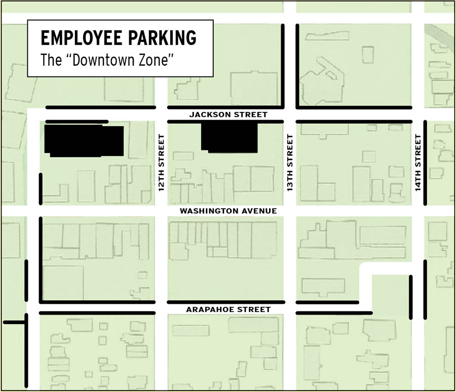 Downtown Employee Parking