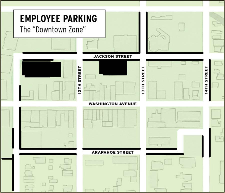 Downtown Employee Parking