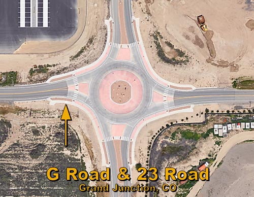 G Road & 23 Road Roundabout in Grand Junction, CO