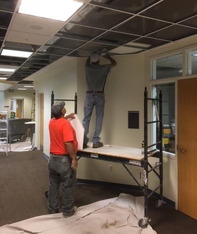 Replacing GCC ceiling tiles