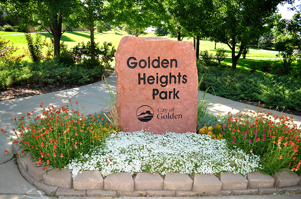 Golden Heights Park Sign
