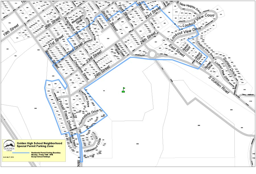 GHS Permit Parking Map