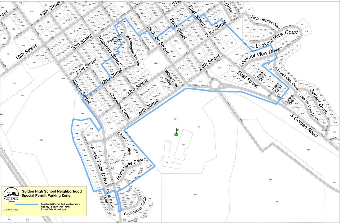 GHS Permit Parking Map