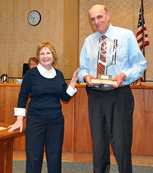 Gerry Suman, owner and CEO of Electrical Technologies and Mayor Sloan