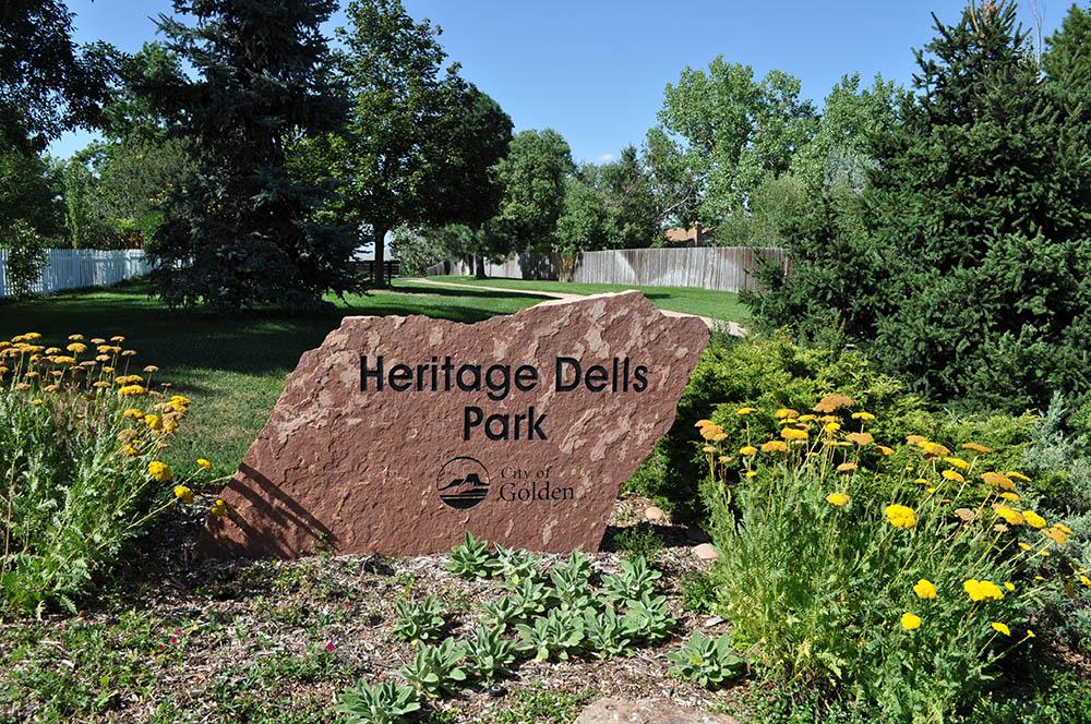 Heritage Dells Park Sign