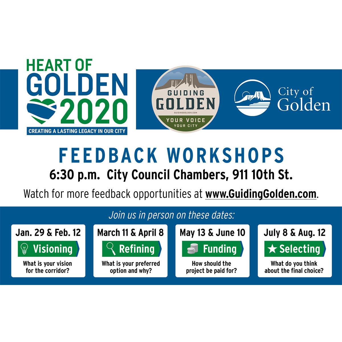Heart of Golden 2020 Public Meeting schedule