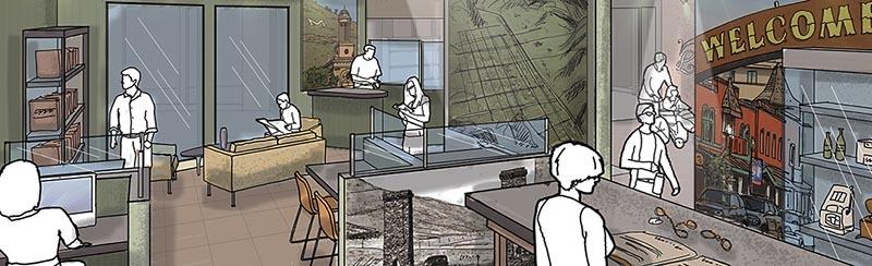 Golden History Museum new lab rendering