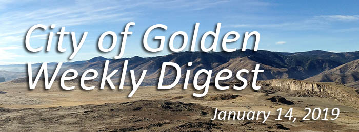 Weekly Digest Banner with Golden landscape for January 14 2020