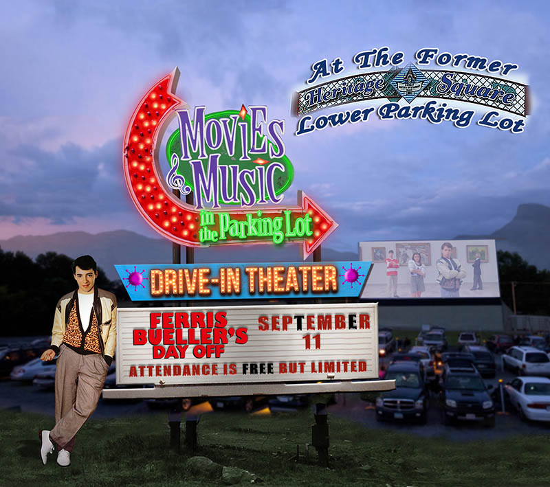 Movies and Music in the Parking Lot showing Ferris Bueller's Day Off