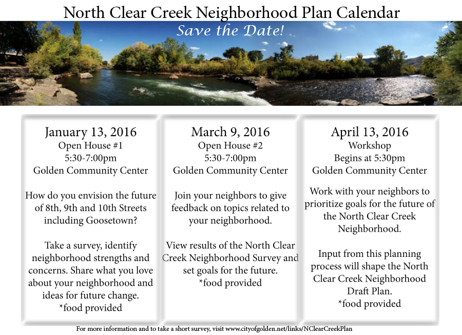 North Clear Creek Meeting Announcement