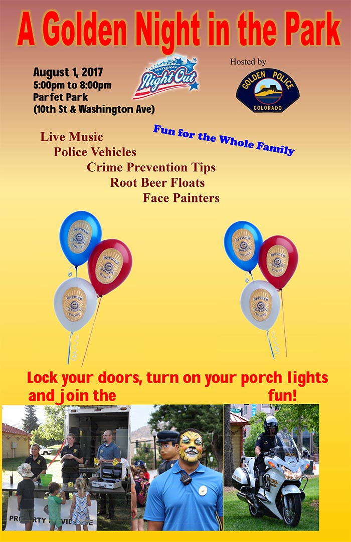 National Night Out 2017 @ Parfet Park | Golden | Colorado | United States