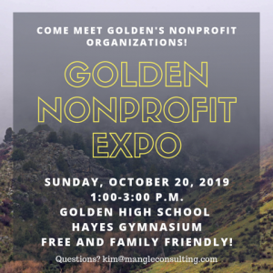 Nonprofit Expo on Oct 20 from 1 - 3pm