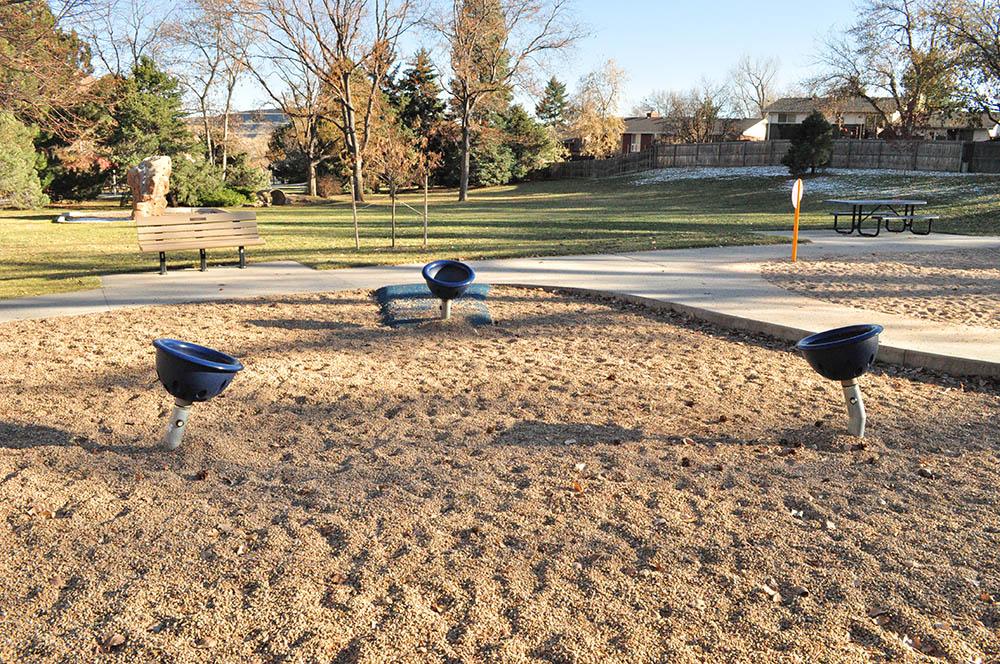 Norman D Memorial Park spinning buckets
