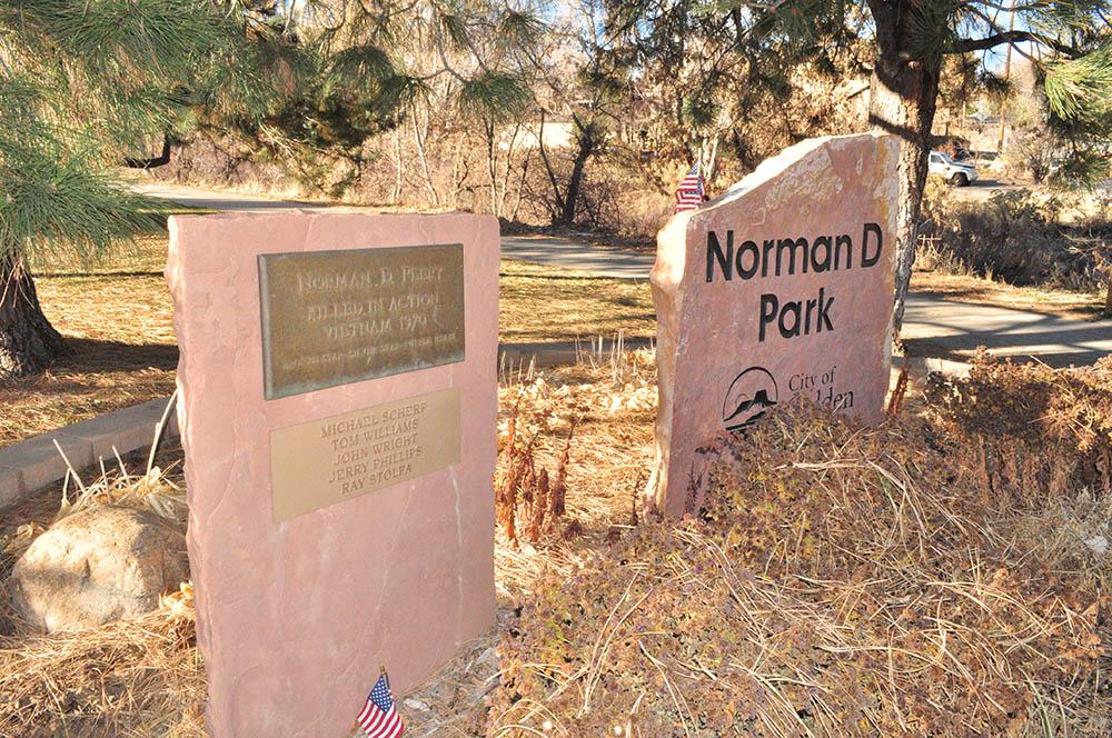 Norman D Memorial Park Sign