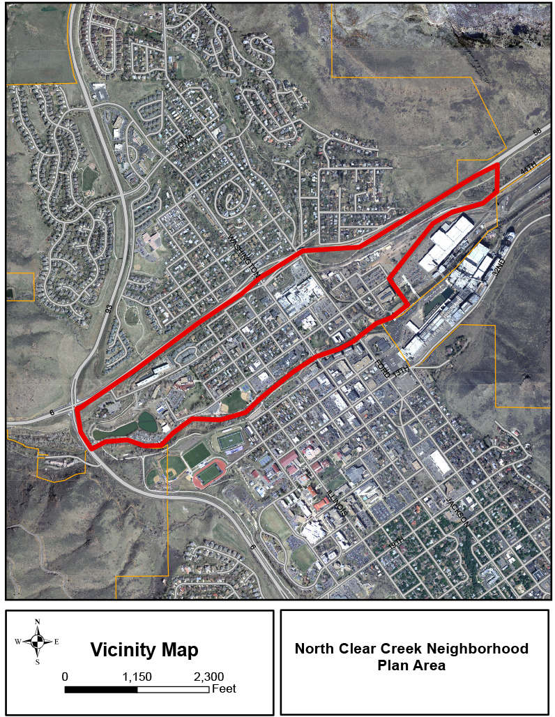 North Clear Creek Neighborhood Vicinity Map