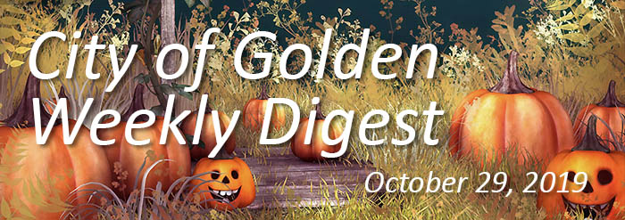 Weekly Digest banner for Oct 29 2019 with pumpkins
