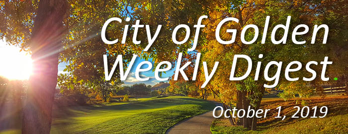Weekly Digest - October 1, 2019
