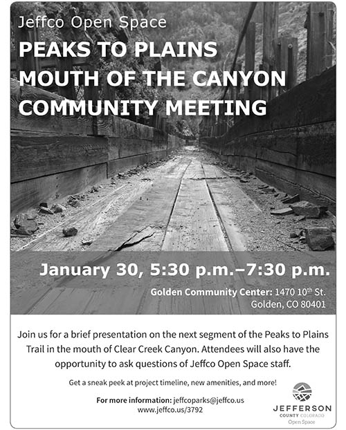 Peaks to Plains Trail Community Meeting @ Golden Community Center