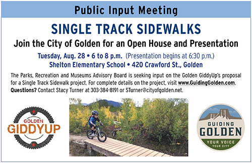 Singletrack Sidewalks (STS) Public Meeting @ Shelton Elementary School | Golden | Colorado | United States