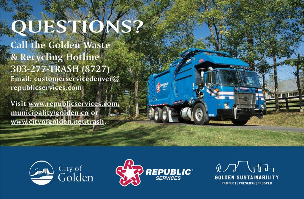 Republic Services is Golden's new Waste Hauler