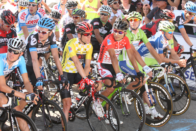 Riders at the start