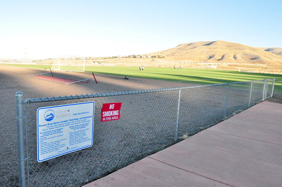 Rooney Road Field and fence